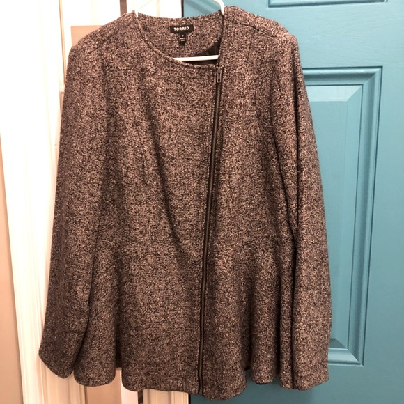 NWOT Gray Torrid Quilted Empire Jacket